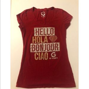 G By Guess Shirt Women Red Size Small